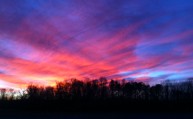 The Colorful March Sky